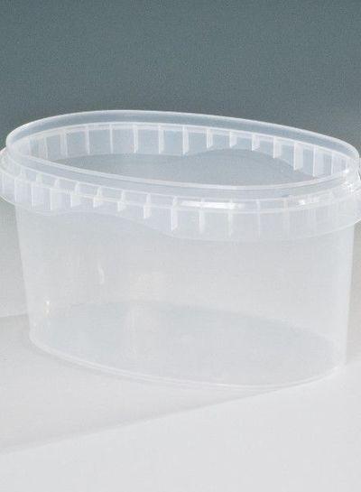 RPC Superfos Becher oval | 550 ml klar | mit Deckel
