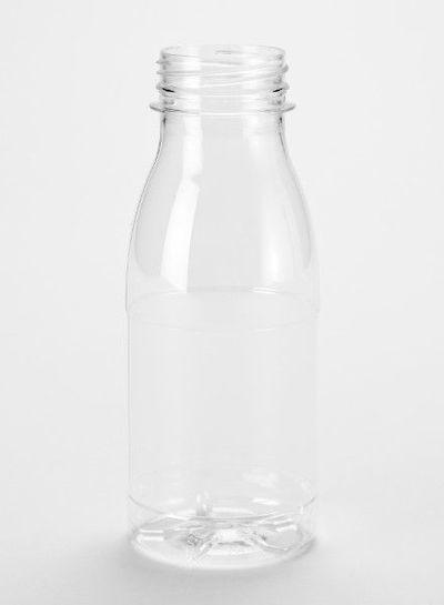 E-proPlast Milchflasche PET | rund | 0,25 l | mit Deckel