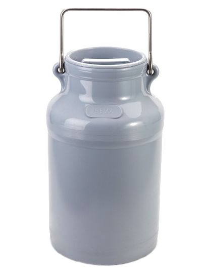 Milchkanne 10l   PE   grau