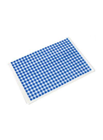 Käsepapier | 50/60 g | blau-weiß Karomuster | 12,5 kg