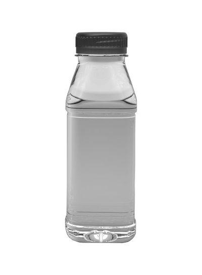 E-proPlast Milchflasche PET   eckig   0,25 l   mit Deckel
