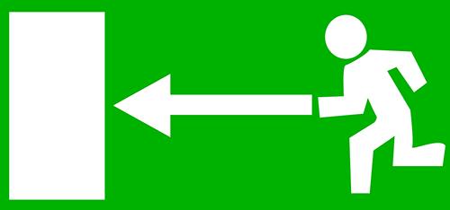 Fluchtweg-Schild