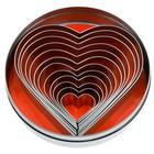 Ausstechersatz Herz glatt 12-tlg.
