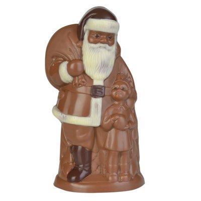 Schokogiessform Weihnachtsmann mit Kind