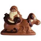 Schokogiessform Weihnachtsmann mit Elch und Schlitten