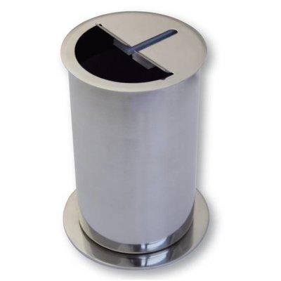 Messer-Abstreifbehälter Edelstahl