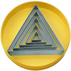 Ausstechersatz Dreieck glatt 5-tlg.
