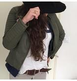 Leren Jacket Green