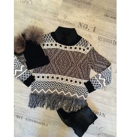 Sweater Black Fringe