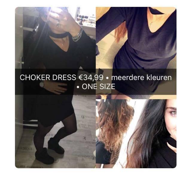 CHOKER & RUFFELS BLACK