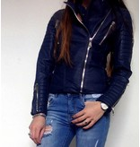LEATHER JACKET BLUE