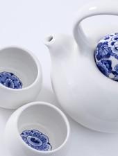 Royal Delft Blue D1653 - Blue Belly Tea Story (set van 3)