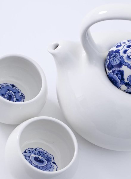 Royal Delft Blue D1653 - Blue Belly Tea Story (set van 3)