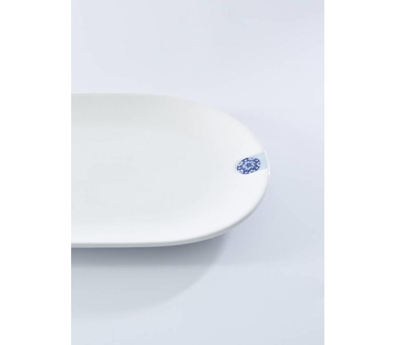 Oval Plate - Touch of Blue