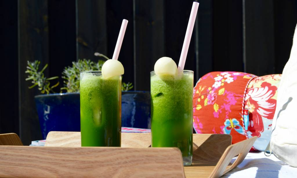 Matcha meloen ice tea