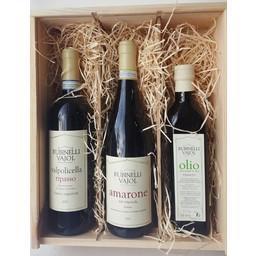 Wijncadeau Rubinelli Vajol in luxe houten kist met schuifdeksel