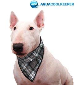 Aqua Coolkeeper Cooling pet bandana Scottish Grey