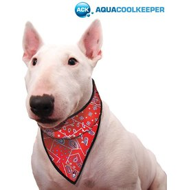 Aqua Coolkeeper Cooling pet bandana Red Western