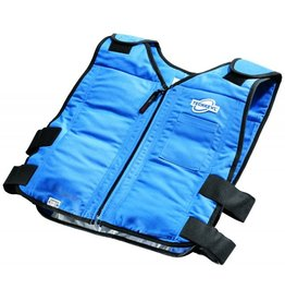 TechKewl Cooling Vest Front Zipper Blue