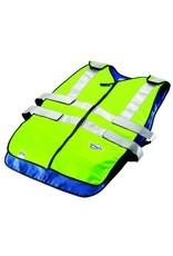 TechKewl Cooling Vest Front Zipper ANSI Class II