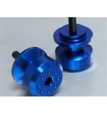 Blauwe aluminium bobbins