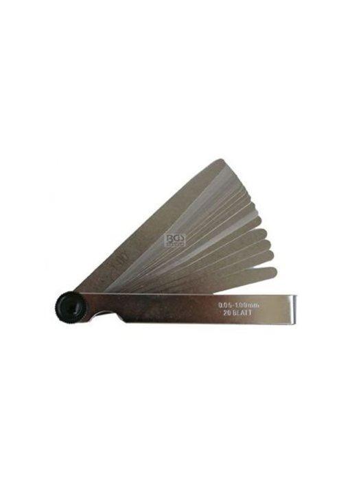 Voelermaat 20 bladen 0,05-1,0 mm