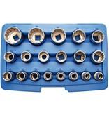 BGS 19-delige 1/2'' gear lock doppendoos