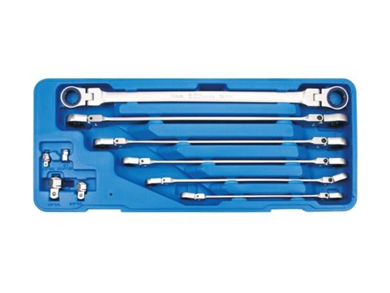 BGS 10-delige lange rinratelsleutel set met adapters