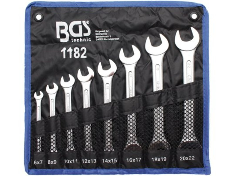 BGS 8-delige steeksleutelset 6x7-20x22