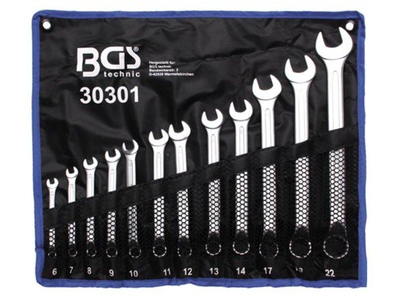 BGS 12-delige steek- ringsleutels 6-22 mm