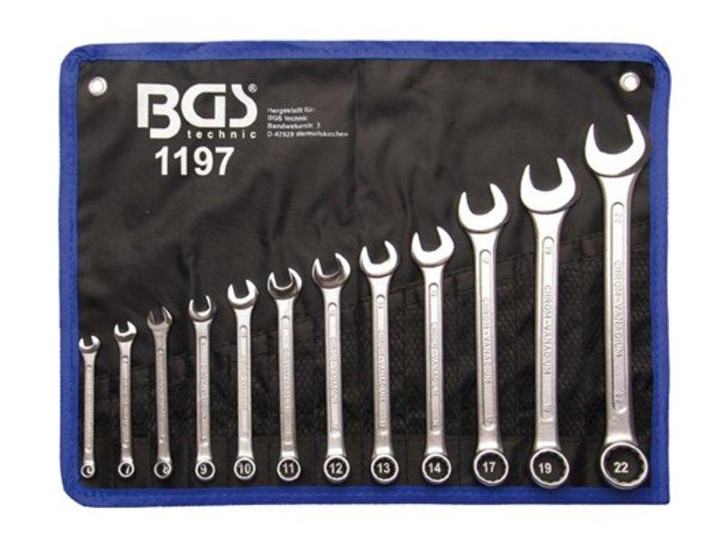 BGS 12-delige steekring sleutelset 6-22 mm