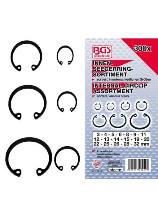 BGS Circlips intern 3-32 mm 300 stuks