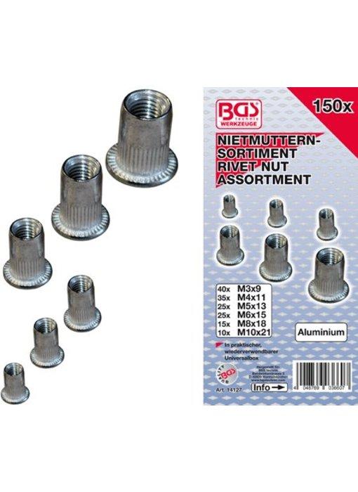 BGS Blindklink moeren aluminium