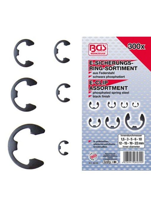 BGS E-clip metrisch 300-delig