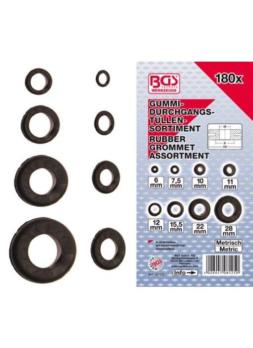 BGS Metrisch rubber tule assortiment 180-delig