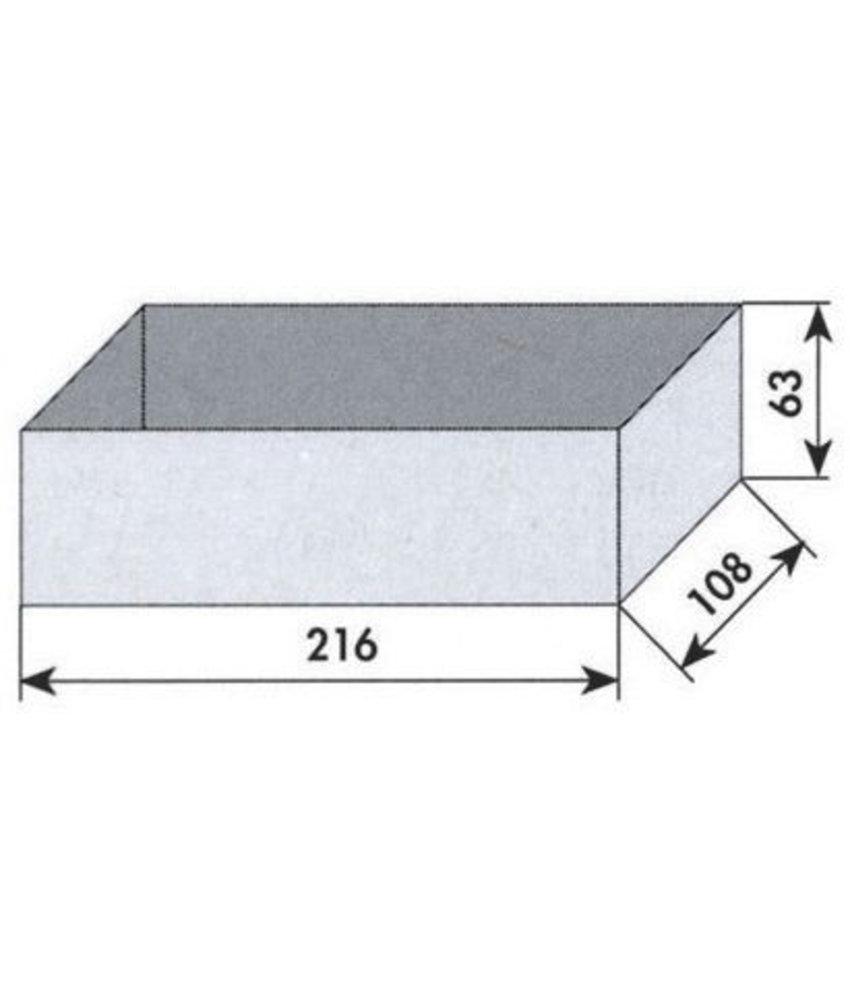 MW Tools Opbergvakje grijs 216x108x63mm