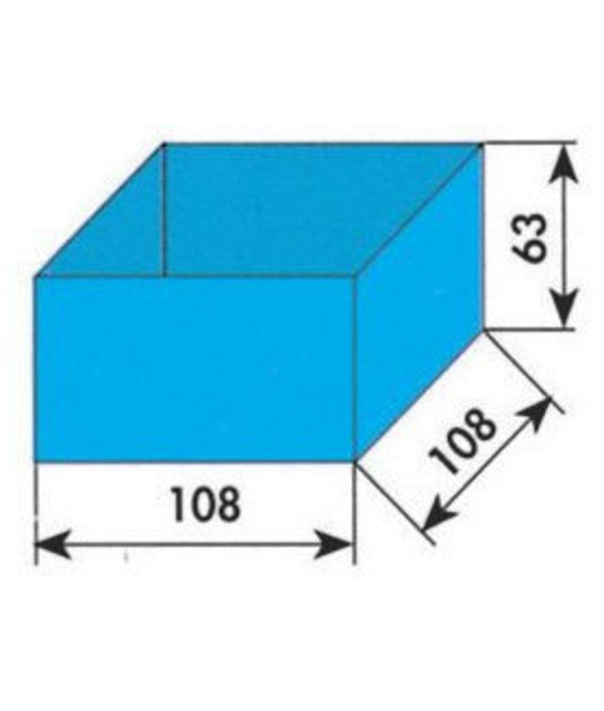 MW Tools Opbergvakje blauw 108x108x63mm