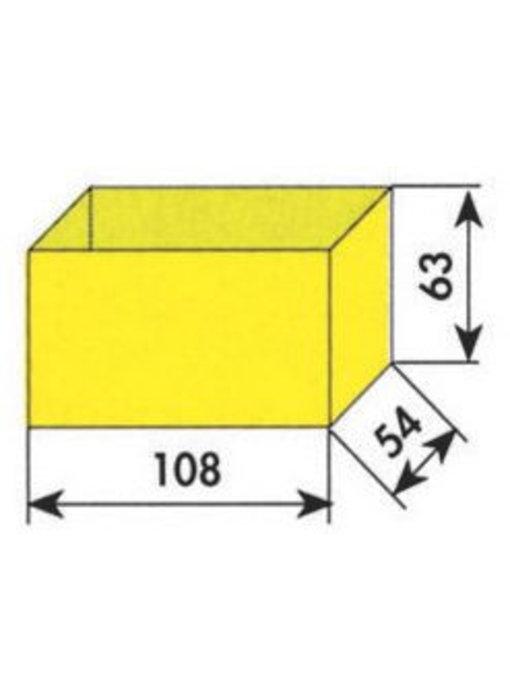 MW Tools Opbergvakje geel 108x54x63mm
