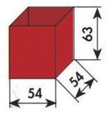 MW Tools Opbergvakje rood 54x54x63mm