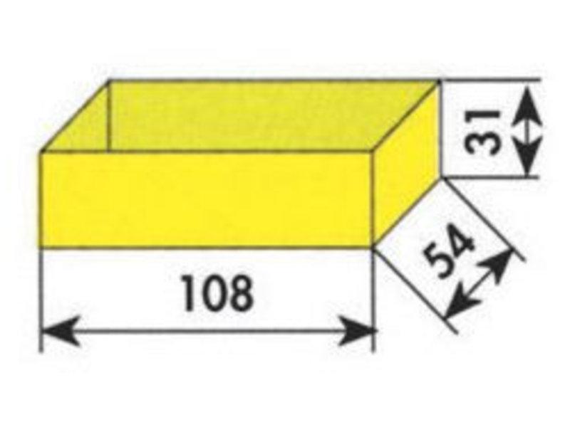 MW Tools Opbergvakje geel 108x54x31mm