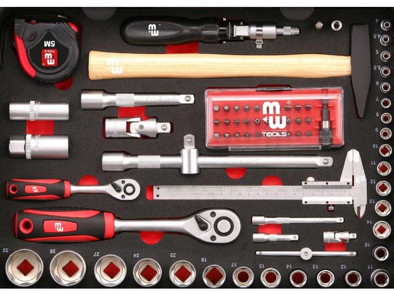 MW Tools Gereedschapskoffer Alu 134-delig