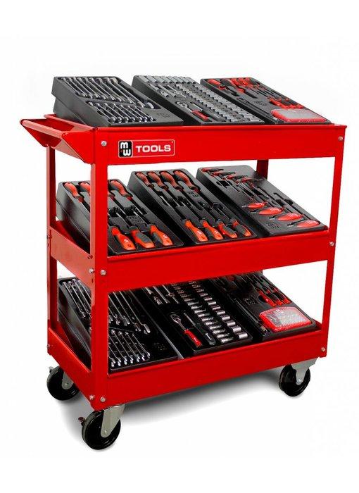 MW Tools Gereedschapstrolley met 6 modules
