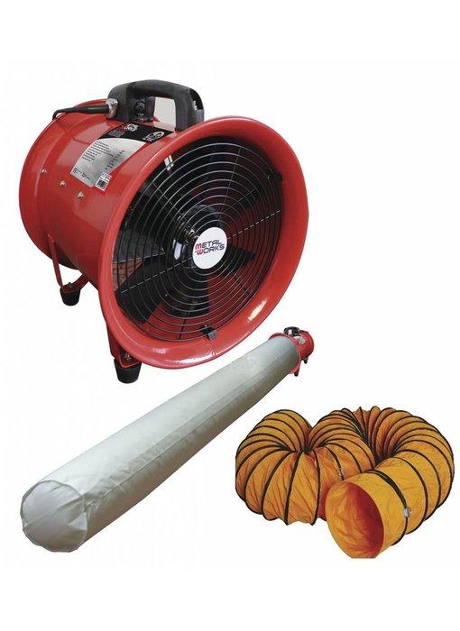 Ventilator met afvoerslang