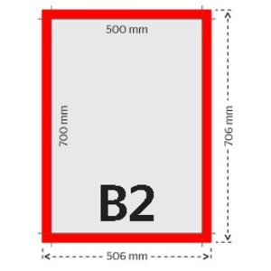 B2 fluo affiches/posters 90g
