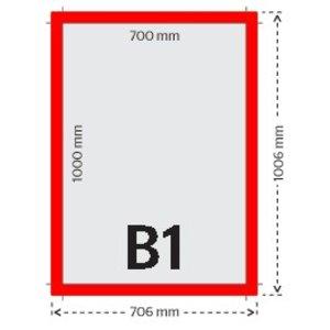 B1 affiches/posters 135g licht glanzend papier