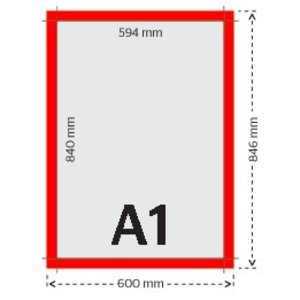 A1 affiches/posters 135g licht glanzend papier