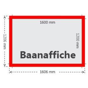 Baanaffiches 120x160cm 115g blueback papier - 2 m2