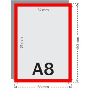 A8 flyers 170g licht glanzend papier 4/4 (dubbelzijdig full color bedrukt)