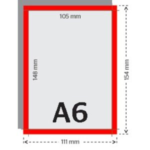 A6 flyers 250g licht glanzend papier 4/4 (dubelzijdig full color bedrukt)