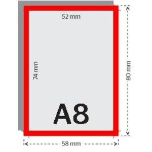 A8 flyers 250g licht glanzend papier 4/4 met UV-lak (dubbelzijdig full color bedrukt)